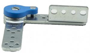 Mechanizm zapadkowy zagłówka sofy SH I ze sprężyną zwrotną - chrom/stal nierdzewna