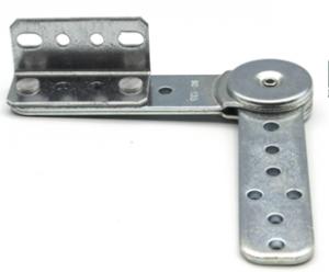 Mechanizm zapadkowy podkłokietnika sofy SH 208C z kątownikiem - chrom/stal nierdzewna
