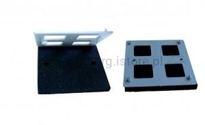 Podkładka gumowa wzmocniona płytką ochronną 110x110x13 mm