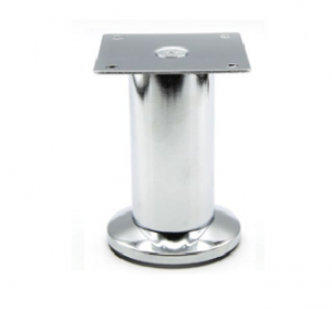 Noga z regulowaną podstawą - SL 002 - wysokość: 90-110 mm, chrom/czarny