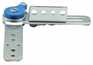 Mechanizm zapadkowy zagłówka sofy SH 206 AUTOMAT z ruchomym kątownikiem i sprężyną zwrotną - chrom/stal nierdzewna
