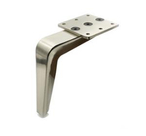 Noga - SL 008 - wysokość: 150 mm, inox/chrom/czarny