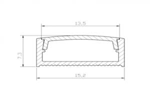 Profil nawierzchniowy LED 02 - aluminiowy wraz z kloszem 2m/3m