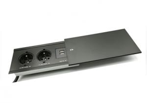 Moduł elektryczny III USB -  2 gniazda + USB x2, wpuszczany + przewód