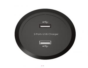 Ładowarka USB x2  DC5V/2.5A - wbudowany zasilacz i przewód zasilający