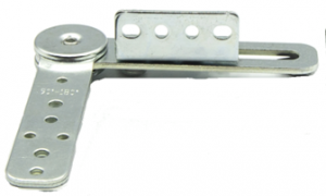 Mechanizm zapadkowy zagłówka sofy SH 206 z ruchomym kątownikiem  - chrom/stal nierdzewna
