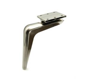 Noga - SL 006 - wysokość: 150 mm, inox/chrom/czarny