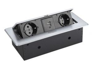 Moduł elektryczny II USB - 2 gniazda + USB x2  wpuszczany + przewód