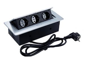 Moduł elektryczny II -  3 gniazda wpuszczany + przewód