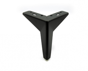 Noga gwiazda - SL 027 - wysokość: 120/130 mm, chrom czarny