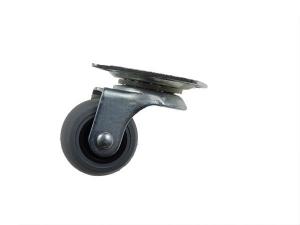 Rolka Φ 30mm gumowana, obrotowa z płytką.