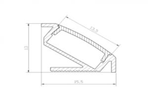 Profil narożny LED 03 - aluminiowy wraz z kloszem 2m/3m