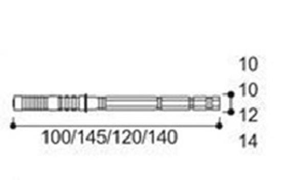 Podpórka półki niewidoczna Φ14x145mm